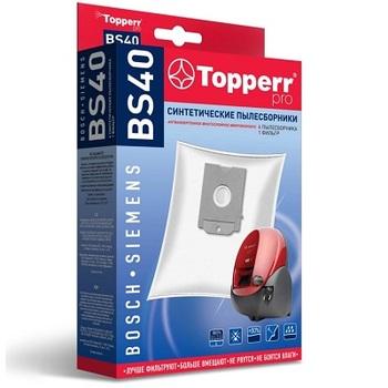Мешки-пылесборники Topperr BS40, 4 шт. + 1 микрофильтр, синтетические