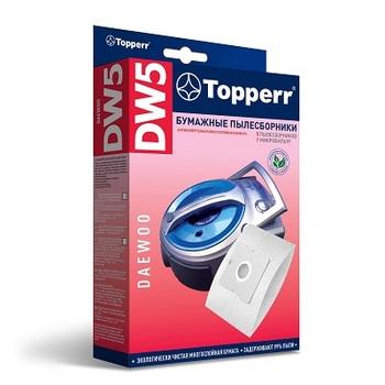 Мешки-пылесборники Topperr DW5, 5шт. + 1 микрофильтр, бумажные