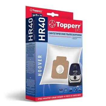 Мешки-пылесборники Topperr HR40, 4 шт. + 1 микрофильтр, синтетические