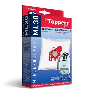 Мешки-пылесборники Topperr ML30, 4 шт. + 1 микрофильтр, синтетические