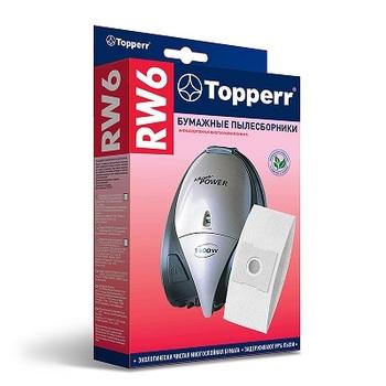 Мешки-пылесборники Topperr RW6, 5шт., бумажные