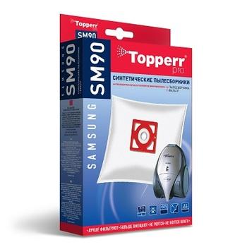 Мешки-пылесборники Topperr SM90, 4 шт. + 1 микрофильтр, синтетические