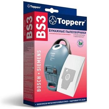 Мешки-пылесборники Topperr BS3, 4шт. + 1 микрофильтр, бумажные