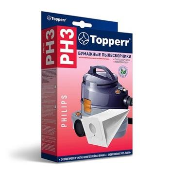 Мешки-пылесборники Topperr PH3, 4шт. + 1 микрофильтр, бумажные