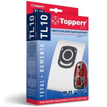 Мешки-пылесборники Topperr TL10, 4 шт. + 1 микрофильтр, синтетические